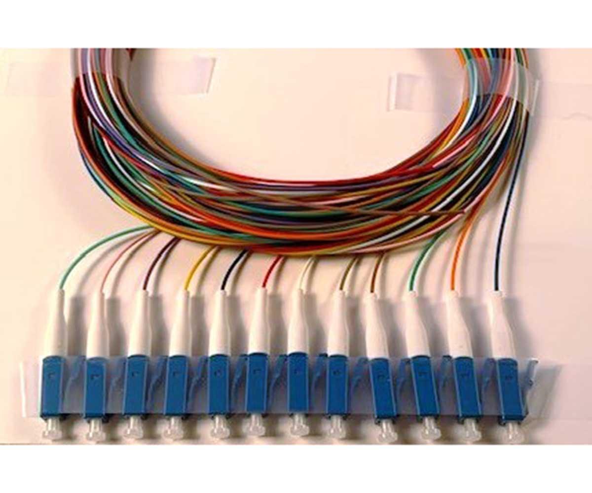 SC//APC Optical Amplifier Drop Cable Assembly Fiber Optic 6 Pigtail Node Tested